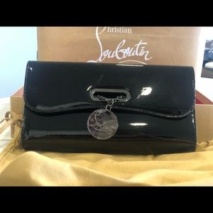 Christian Louboutin-Riviera Patent Leather Clutch.